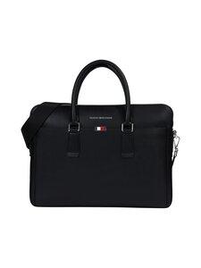 Tommy Hilfiger - Business Leather Slim Computer Bag -nahkalaukku - BDS BLACK   Stockmann