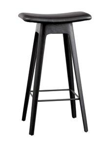 Andersen - HC1 Bar Stool -baarijakkara nahkaistuimella - BLACK LACQUER FRAME+LEGS BLACK PU LEATHER SEAT / FOOTREST BLACK   Stockmann
