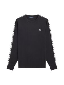 Fred Perry - Taped L/S T-Shirt -paita - 102 BLACK | Stockmann