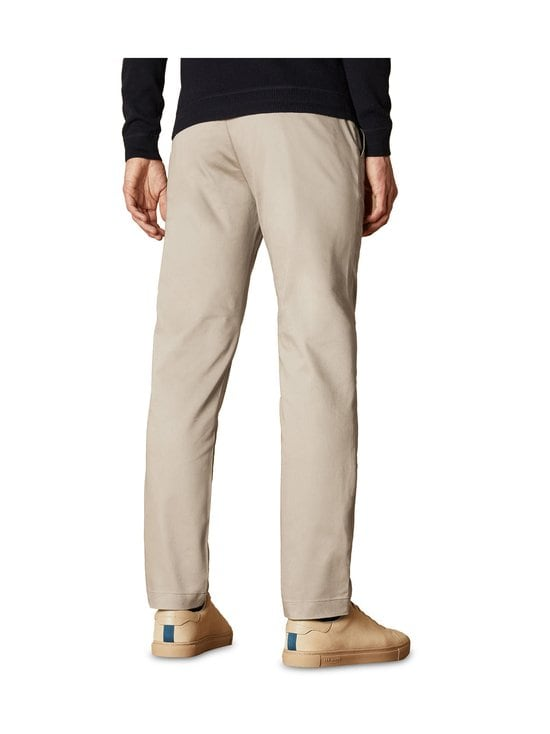 Ted Baker London - Smile Slim Fit Satin Finish Chinos -chinot - 05 STONE | Stockmann - photo 3