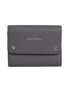 Karl Lagerfeld - K/Ikon Medium Flap Wallet -nahkalompakko - THUNDER A292   Stockmann