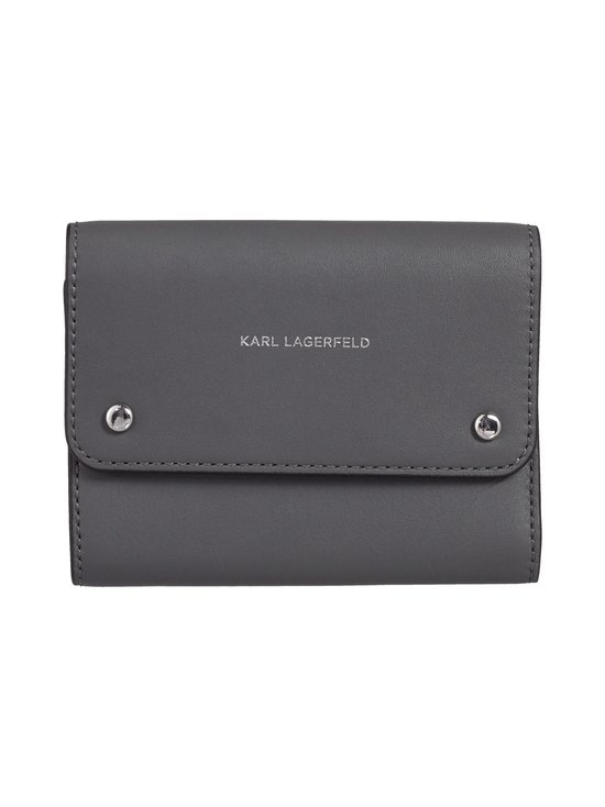 Karl Lagerfeld - K/Ikon Medium Flap Wallet -nahkalompakko - THUNDER A292 | Stockmann - photo 1