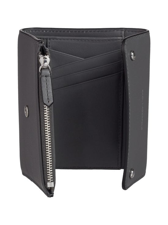 Karl Lagerfeld - K/Ikon Medium Flap Wallet -nahkalompakko - THUNDER A292 | Stockmann - photo 3