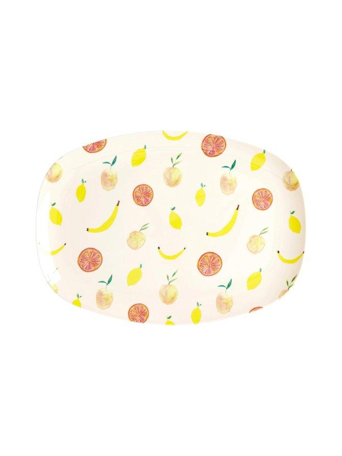 Happy Fruits -lautanen 22 x 30 cm