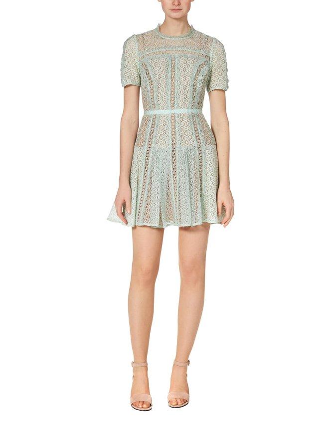 Lace Panel Mini Dress -mekko