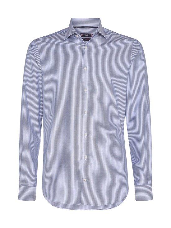 Tommy Hilfiger Tailored - Flex Collar Stripe Slim Fit -kauluspaita - 0GY NAVY/WHITE | Stockmann - photo 1