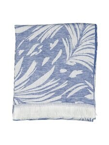 Yves Delorme - Abri-pellavatorkkupeitto 150 x 180 cm - BLUE | Stockmann