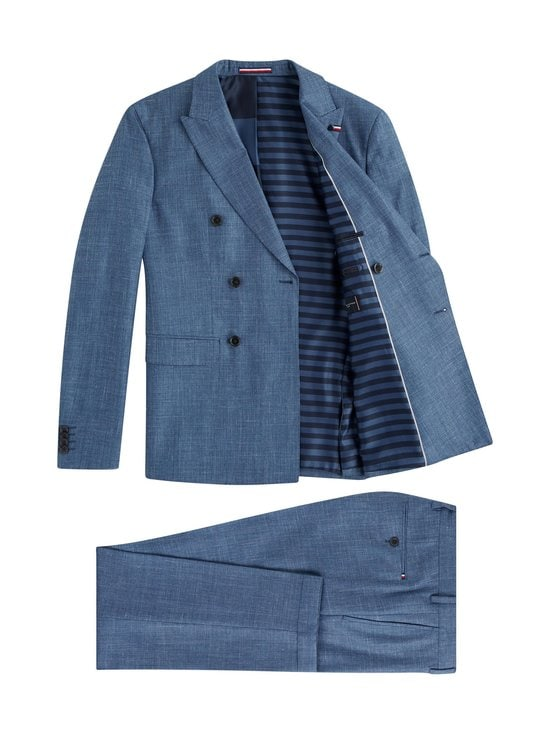 Tommy Hilfiger Tailored - Double Breasted Slim Fit Virgin Wool Suit -puku - DU9 BLUE HEATHER 05   Stockmann - photo 2