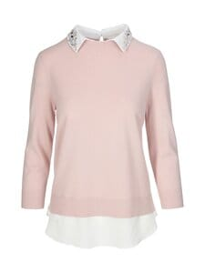Ted Baker London - Janiiss Open Collar Mockable Sweater -neule - 51 DUSKY PINK | Stockmann