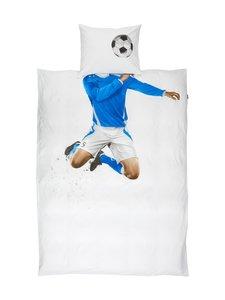 Snurk - Soccer-pussilakanasetti 150 x 210 + 50 x 60 cm - VALKOINEN/SININEN | Stockmann
