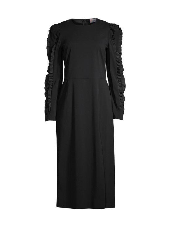 Ruffles Detail strech Cady Envers Satin Dress -mekko