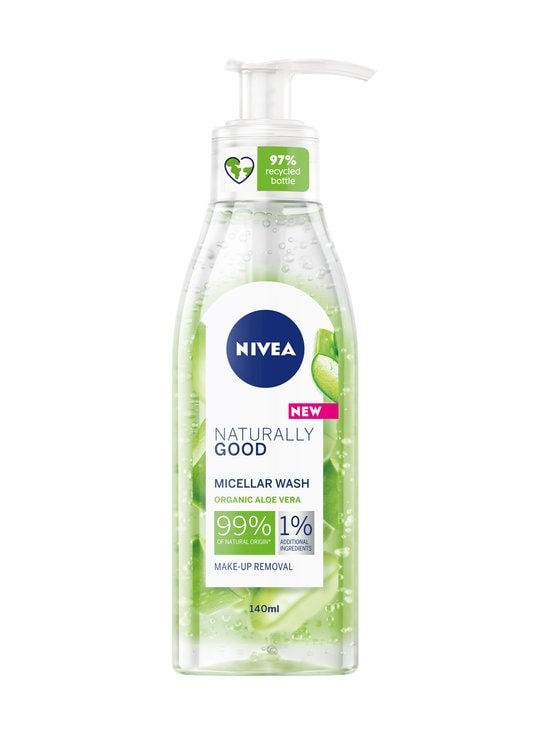 NIVEA - Naturally Good Micellar Face Wash -puhdistusgeeli 140 ml - NOCOL | Stockmann - photo 1