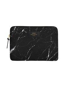 WOUF - Black Marble iPad Sleeve -suojatasku tabletille - BLACK | Stockmann