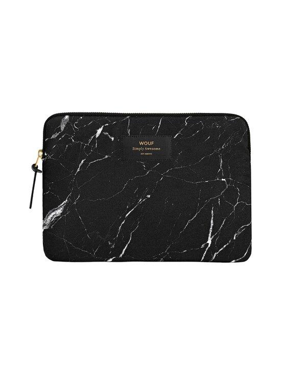 WOUF - Black Marble iPad Sleeve -suojatasku tabletille - BLACK   Stockmann - photo 1