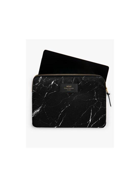 WOUF - Black Marble iPad Sleeve -suojatasku tabletille - BLACK   Stockmann - photo 2