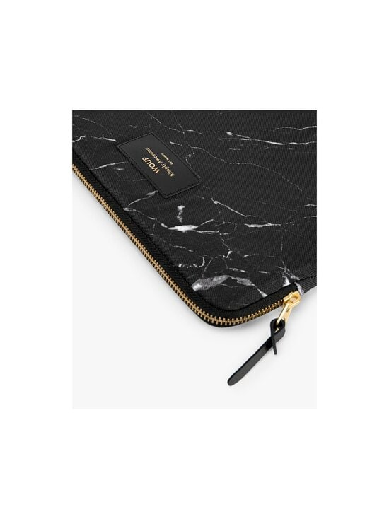 WOUF - Black Marble iPad Sleeve -suojatasku tabletille - BLACK   Stockmann - photo 4