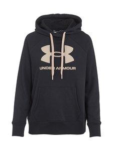 Under Armour - Rival Fleece Logo -huppari - 003 BLACK / DESERT ROSE / DESERT ROSE | Stockmann