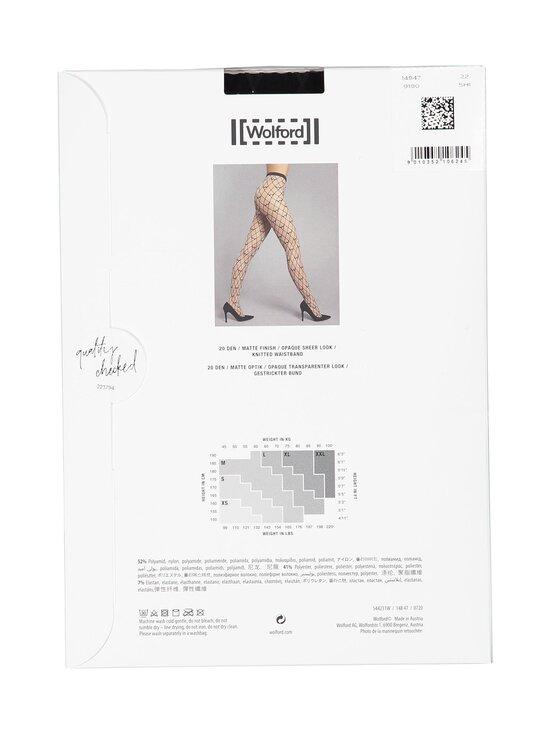 Wolford - W-Pattern 20 den -sukkahousut - 9180 BLACK/BLACK   Stockmann - photo 2