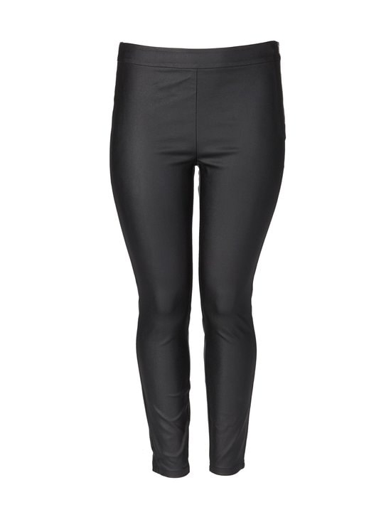 cut & pret PLUS - Nella Plus Coated -leggingsit - BLACK   Stockmann - photo 1