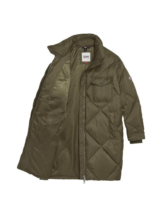 Tommy Jeans - TJW Diamond Quilted Coat -toppatakki - MSQ OLIVE TREE | Stockmann - photo 3