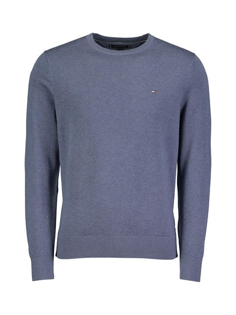 Cotton Silk Crew Neck -neule
