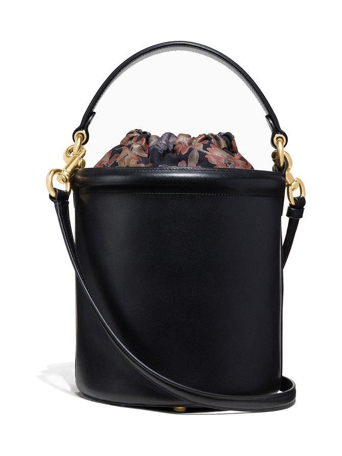 Drawstring Bucket Bag -nahkalaukku