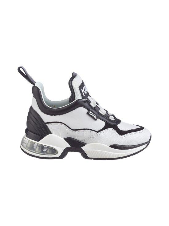 Karl Lagerfeld - Ventura Lazare Mid Top -sneakerit - 010 WHITE LTHR W/BLACK   Stockmann - photo 1