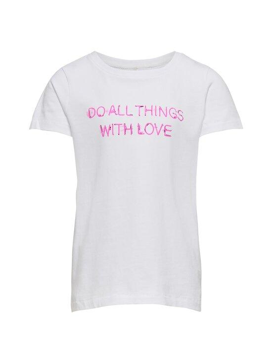 KIDS ONLY - KonChloe Life Boxy -paita - BRIGHT WHITE PRINT:LOVE | Stockmann - photo 1