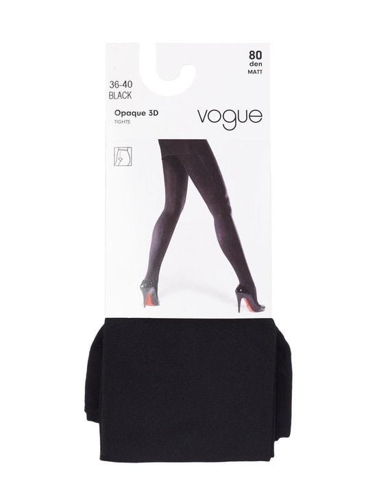 Vogue - Opaque 3D -sukkahousut 80 den - BLACK | Stockmann - photo 1