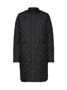 Selected - SlfFillipa Quilted Coat -takki - BLACK | Stockmann