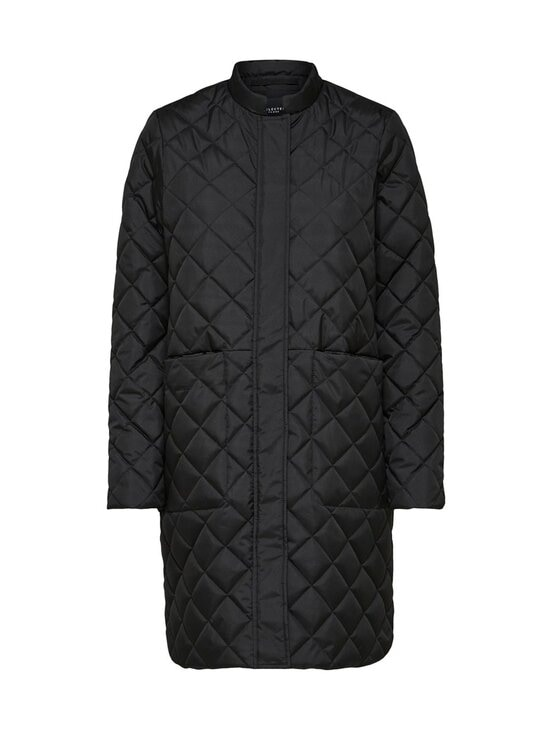 Selected - SlfFillipa Quilted Coat -takki - BLACK | Stockmann - photo 1