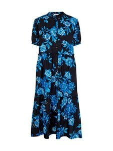 Tommy Hilfiger Curve - Crv Floral F&F Long Dress -mekko - 0Z6 HOT HOUSE FLORAL / BIO BLUE   Stockmann