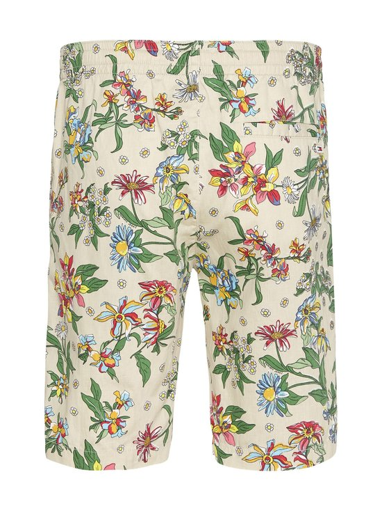 Tjm Linen Blend Floral Short -shortsit