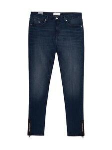 Calvin Klein Jeans Plus - Plus Size High Rise Skinny Ankle Jeans -farkut - 1BJ BB234 - BLUE BLACK LOGO ZIP HEM   Stockmann
