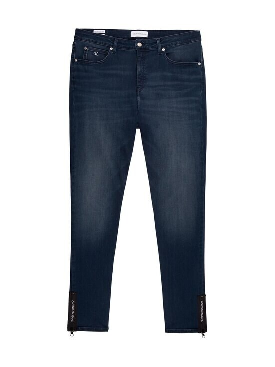 Calvin Klein Jeans Plus - Plus Size High Rise Skinny Ankle Jeans -farkut - 1BJ BB234 - BLUE BLACK LOGO ZIP HEM | Stockmann - photo 1
