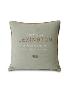Lexington - Logo Canvas -tyynynpäällinen 50 x 50 cm - SAGE GREEN | Stockmann