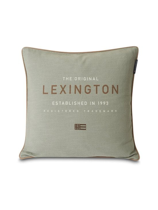 Lexington - Logo Canvas -tyynynpäällinen 50 x 50 cm - SAGE GREEN   Stockmann - photo 1