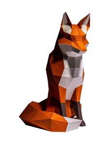 Papercraft World - FOXTOR Fox 3D Model -koriste - ORANGE   Stockmann