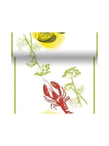Duni - Crayfish Party -poikkiliina  40 x 480 cm - RED-WHITE-GREEN | Stockmann