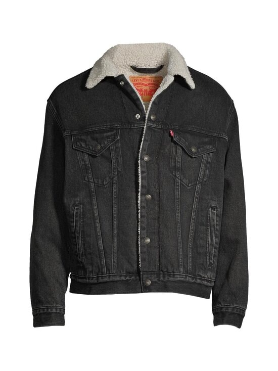Levi's - Sherpa Trucker -farkkutakki - BLACK | Stockmann - photo 1