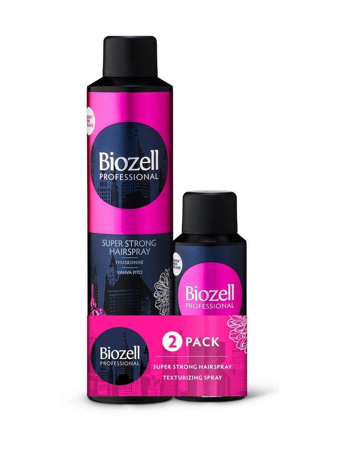 Super Strong Hairspray -hiuskiinne 300 ml + Texturizing Spray -rakennesuihke 100 ml