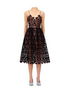 Self-Portrait - Black Azalea Midi -mekko - BLACK | Stockmann