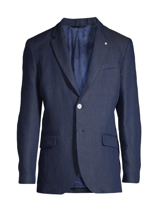 GANT - Regular Linen Herringbone -bleiseri - 410 MARINE | Stockmann - photo 1