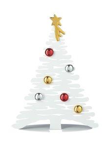 Alessi - Bark for Christmas -joulukuusi 30 cm - WHITE/MULTICOLOUR | Stockmann