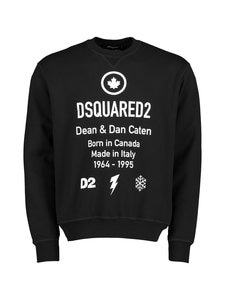 Dsquared - D2 Leaf Crewneck Sweatshirt -collegepaita - 900 BLACK | Stockmann