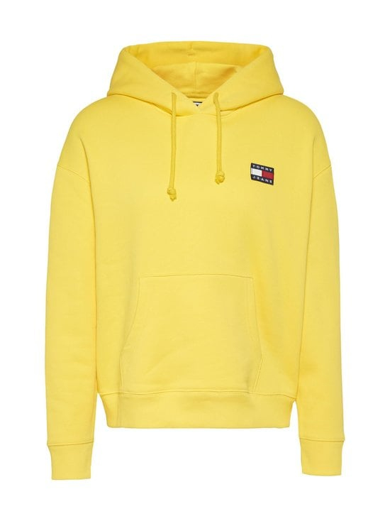 Tommy Jeans - Tjw Organic Cotton Tommy Badge Hoody -huppari - ZGQ STAR FRUIT YELLOW | Stockmann - photo 1