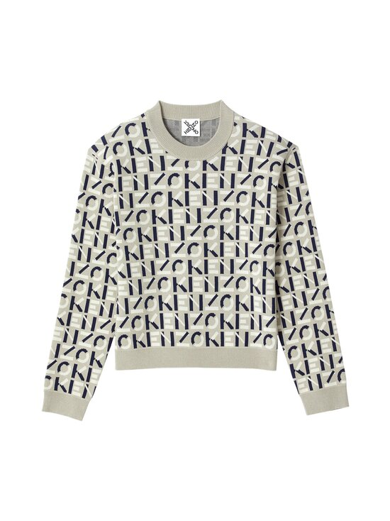 Kenzo - MONOGRAM CLASSIC JUMPER -neule - 95 DOVE GREY | Stockmann - photo 1