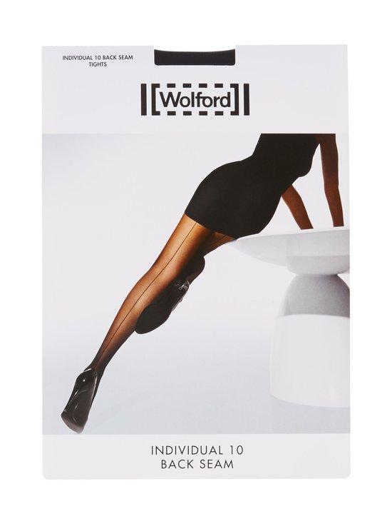 Wolford - Individual 10 den Back Seam -sukkahousut - BLACK   Stockmann - photo 1