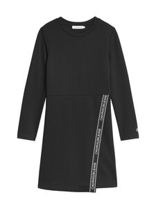 Calvin Klein Kids - Logo Punto LS Wrap Dress -mekko - BEH CK BLACK | Stockmann