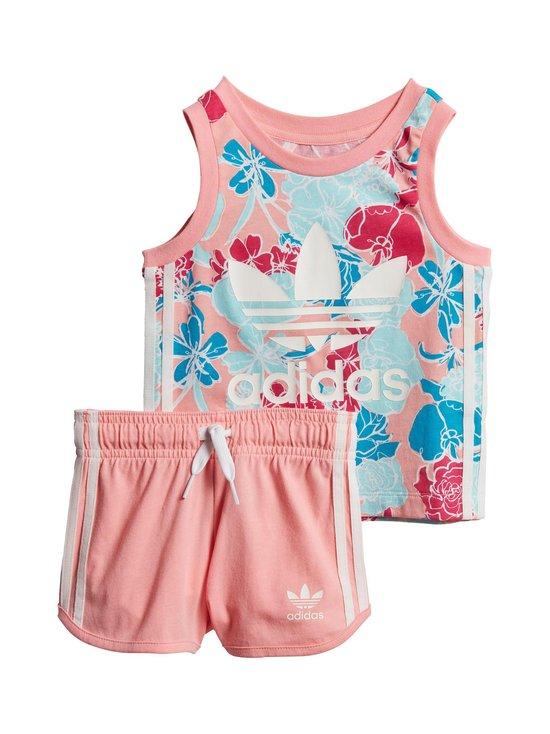 adidas Originals - Tank Short Set Baby -asu - GLOPNK/MULTCO/WHITE | Stockmann - photo 1